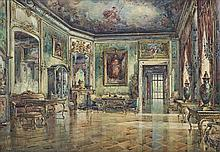 Chmieliński (Stachowicz) Władysław - WILANOW PALACE, 30S OF THE TWENTIETH CENTURY., watercolor, paper on cardboard