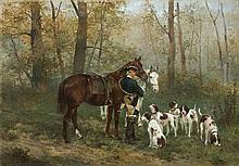 Gierymski Maksymilian - BEFORE THE HUNTING, CA. 1872, oil, canvas