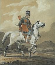 Orłowski Aleksander - EASTERN HORSEMAN, pastel,carton