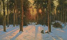Korecki Wiktor - SUNSET IN WINTER 1939, oil, canvas