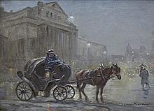 Wasilewski Czesław (I. Zygmuntowicz) - IN FRONT OF THE GRAND THEATRE, oil, canvas