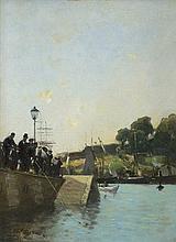Gierymski Aleksander - SEINE QUAYSIDE, CA.1892, oil, canvas
