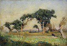 Stanisławski Jan - PINE TREES, CA.1890, oil, canvas