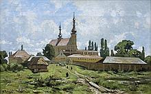 Malecki Władysław Aleksander - MONASTERY NEAR KIELCE, 80S NINETEENTH CENTURY, oil, canvas