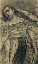 Wyspiański Stanisław - POLONIA, 1894, charcoil, paper