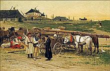 Kozakiewicz Antoni - AT GALICYA FAIR, oil, board