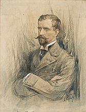 Kamieński Antoni - PORTRAIT OF A MAN, crayon, pencil, gouache, paper