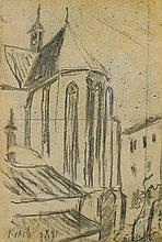 Wyspiański Stanisław - FRANCISCAN CHURCH IN CRACOW, pencil,paper
