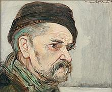 Hofman Vlastimil - OLD MAN, 1923, oil, cardboard