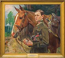 PORTRAIT OF LIEUTENANT HENRYK ZANDBANG, AFTER 193, oil, canvas