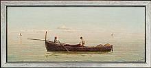 Capessiero Vittorio - THE GULF OF NAPLES. TWO FISHERMAN IN THE BOAT, oil, board