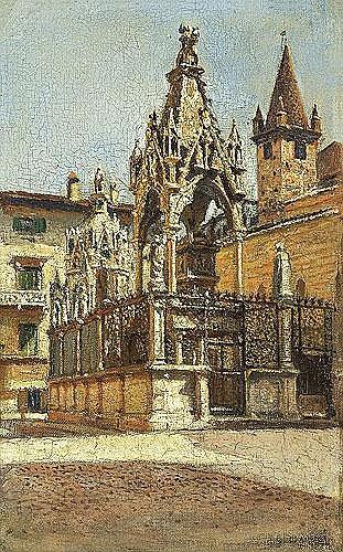 Gierymski Aleksander - GOTHIC MONUMENTS, 1900, oil, canvas on carton