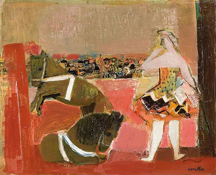 Kanelba Rajmund: Circus, before 1954: oil, canvas: