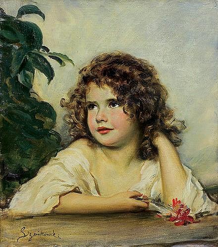 Szańkowski Bolesław - DAUGHTER'S PORTRAIT, oil, canvas