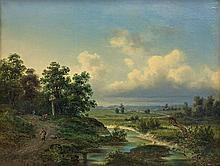 Malinowski Adam Wiktor - LANDSCAPE, 1864, oil, canvas