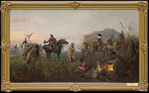 Pawliszak Wacław - GIFT FROM THE COSSACKS, BEFORE 1885, oil, canvas