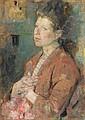 Young Lady's Portrait, 1890-1899, Olga Boznanska, Click for value