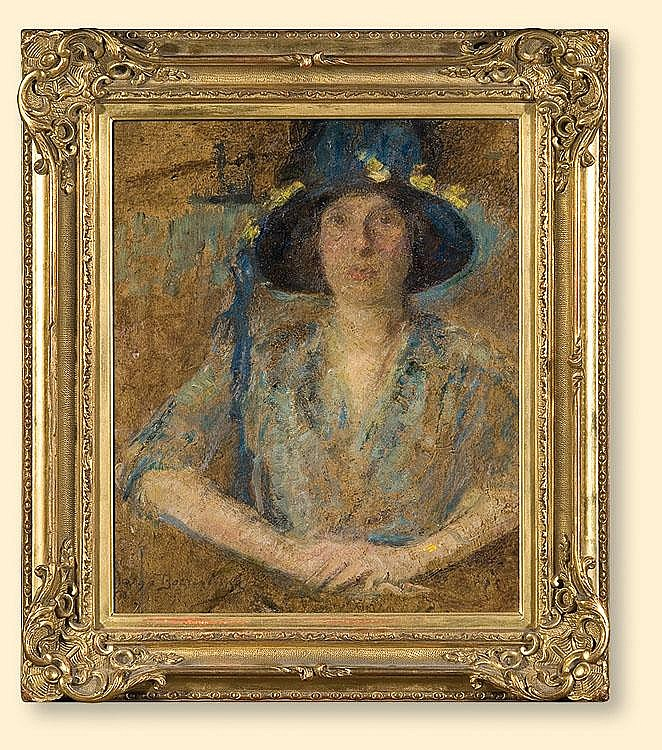 Lady with a Hat and Flowers, 1925-28