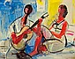 Menkes Zygmunt Women and a Man with a Guitar,, Sigmund Joseph Menkes, Click for value