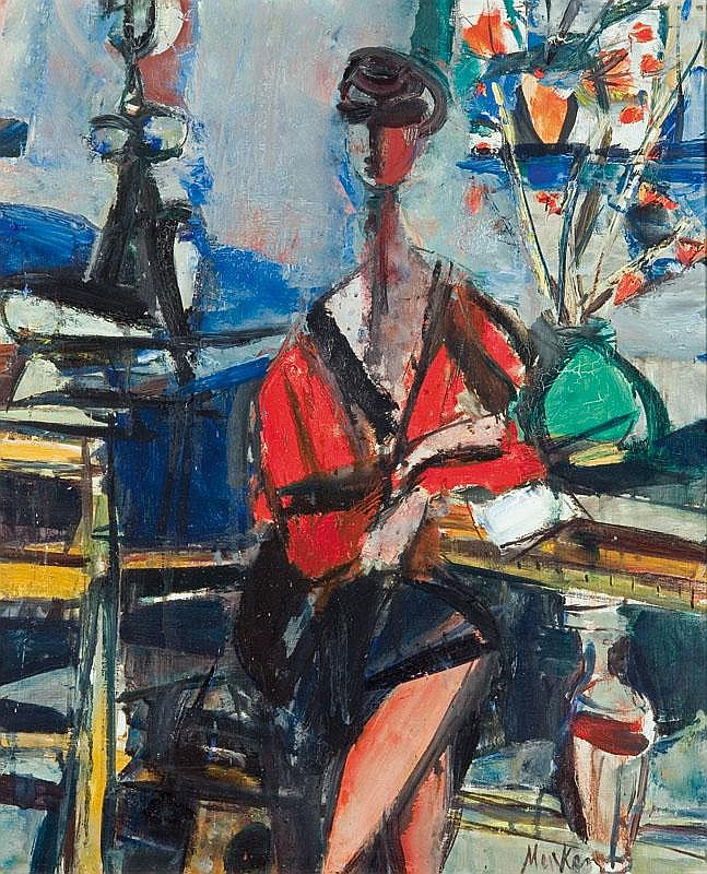 Menkes Zygmunt Woman in the Studio, 1940-50