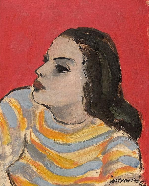 Brzeski Janusz Maria Girl on Red, 1946