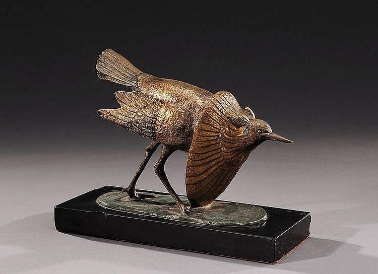 IRENEE ROCHARD (1906-1984)  «Oiseau des marais»