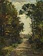 Gaston THYS (1863-1893) Le chemin, décembre 1882