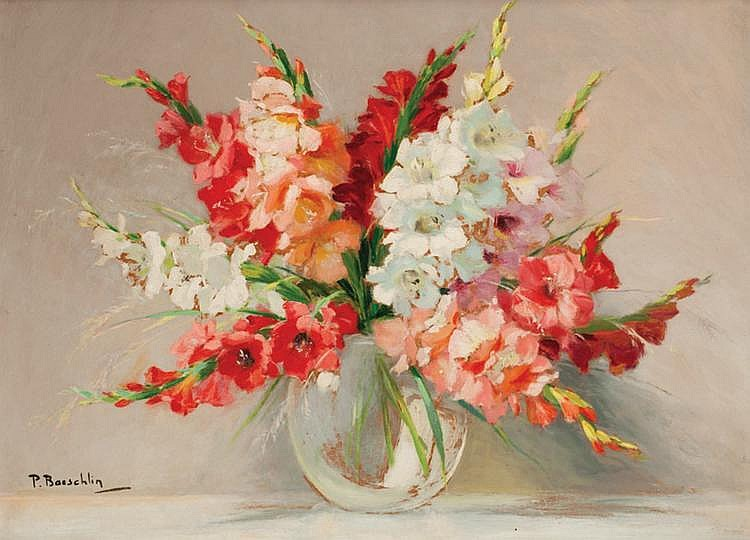 Pierre laurent baeschlin 1886 1958 for Bouquet de fleurs wine