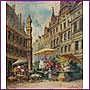 Louis DUPUIS (1842-1921) Ecole Belge Le marché aux
