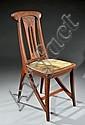 EUGENE GAILLARD (1862-1932) Chaise en chêne, Eugene Gaillard, Click for value