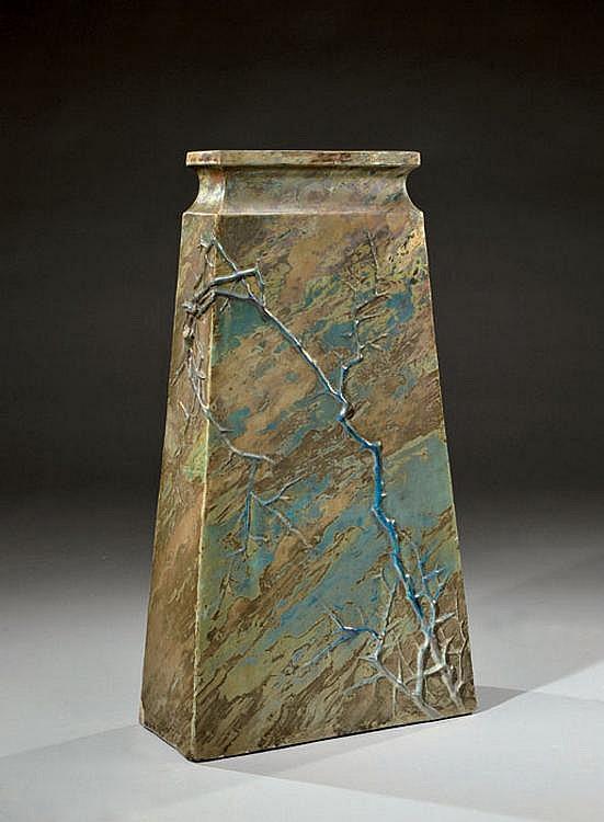 CLEMENT MASSIER (1844-1917) Rare vase-jardinière