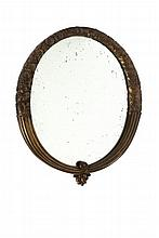 LOUIS SÜE (1875-1968) et ANDRE MARE (1885-1932) Miroir circulaire