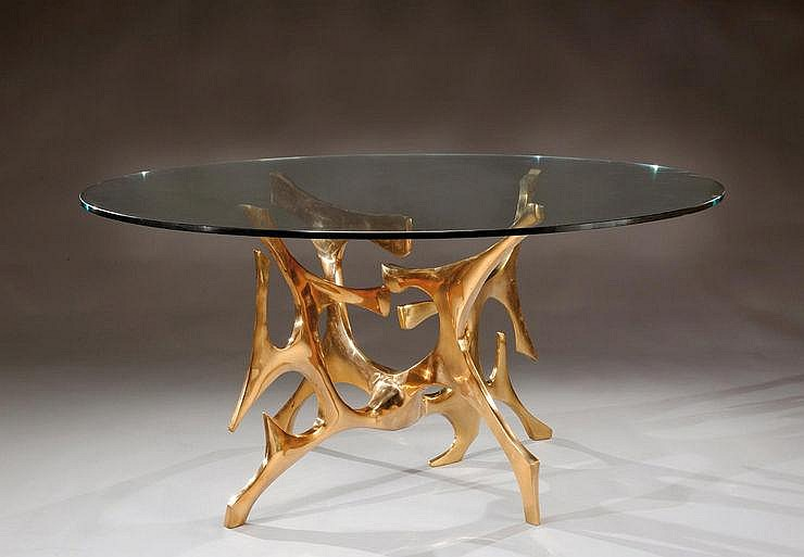 FRED BROUARD (1944-1999) Exceptionnelle table de