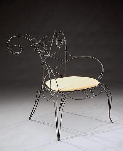 ANDRE DUBREUIL (né en 1946) Prototype du fauteuil