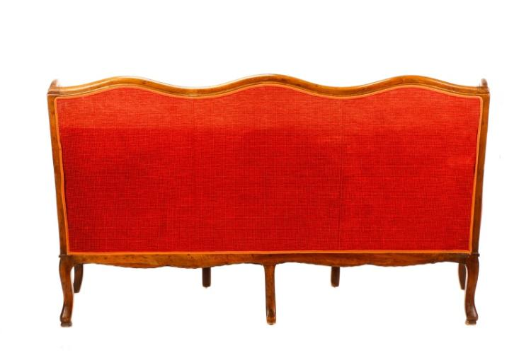 louis philippe style walnut wingback sofa