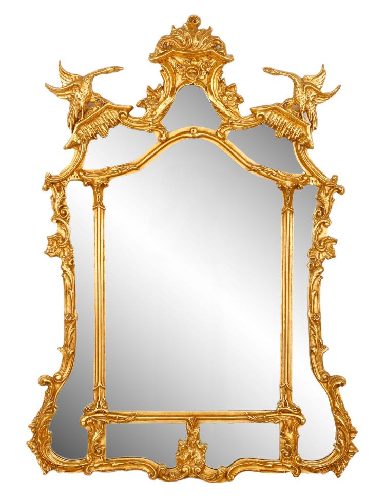 Friedman bros chinese chippendale style mirror for Asian style mirror