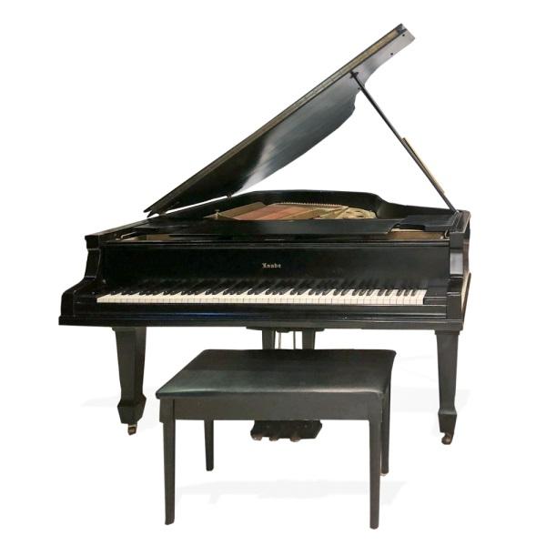 William knabe ebonized baby grand piano for Baby grand piano height