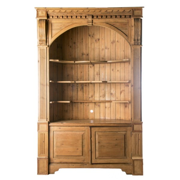 Knotty Pine Cupboards: Neoclassical Style Knotty Pine Corner Cabinet
