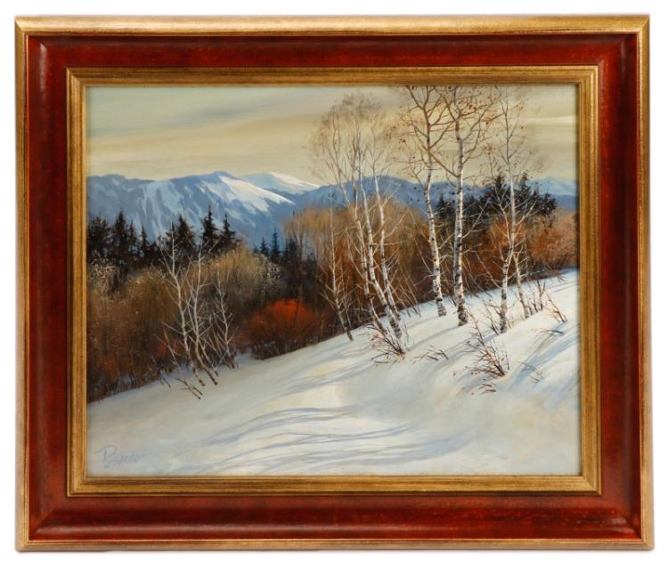 L B H Signed Oil Painting