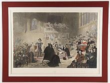 Wagstaff after Fisk, Trial of Charles I, Engraving
