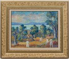 Lucien Neuquelman, Pointillist Oil On Canvas