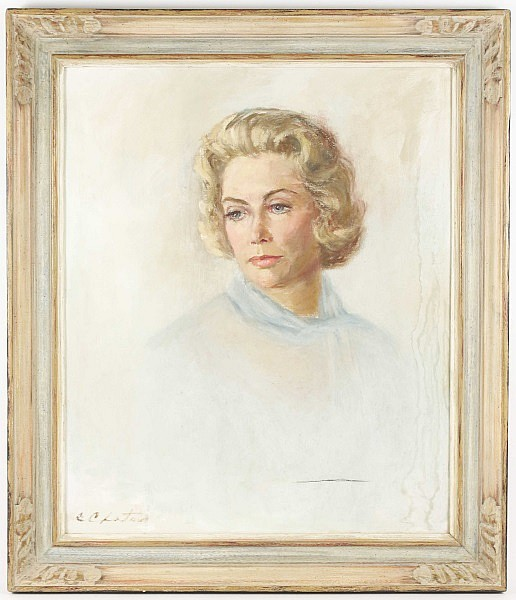 Constantin Chatov Portrait of Woman, Signed