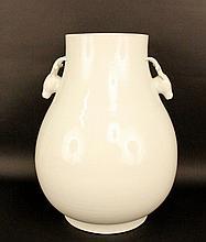 Large Ceramic Vase w/Stag Handles