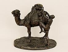 Orientalist Bronze of Figure with Camel