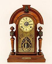 Victorian Walnut Cased Mantle Clock