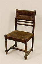 American Wooden Side Chair w/ Rush Seat