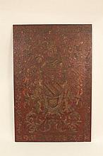 Gilt Accented Coat of Arms Panel
