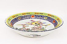 Large Chinese Bowl with Figural Decoration