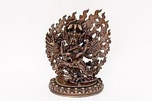 Oriental Bronze Buddhist Yamantaka Figure