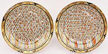 Pair of Japanese 1000 Faces Plates